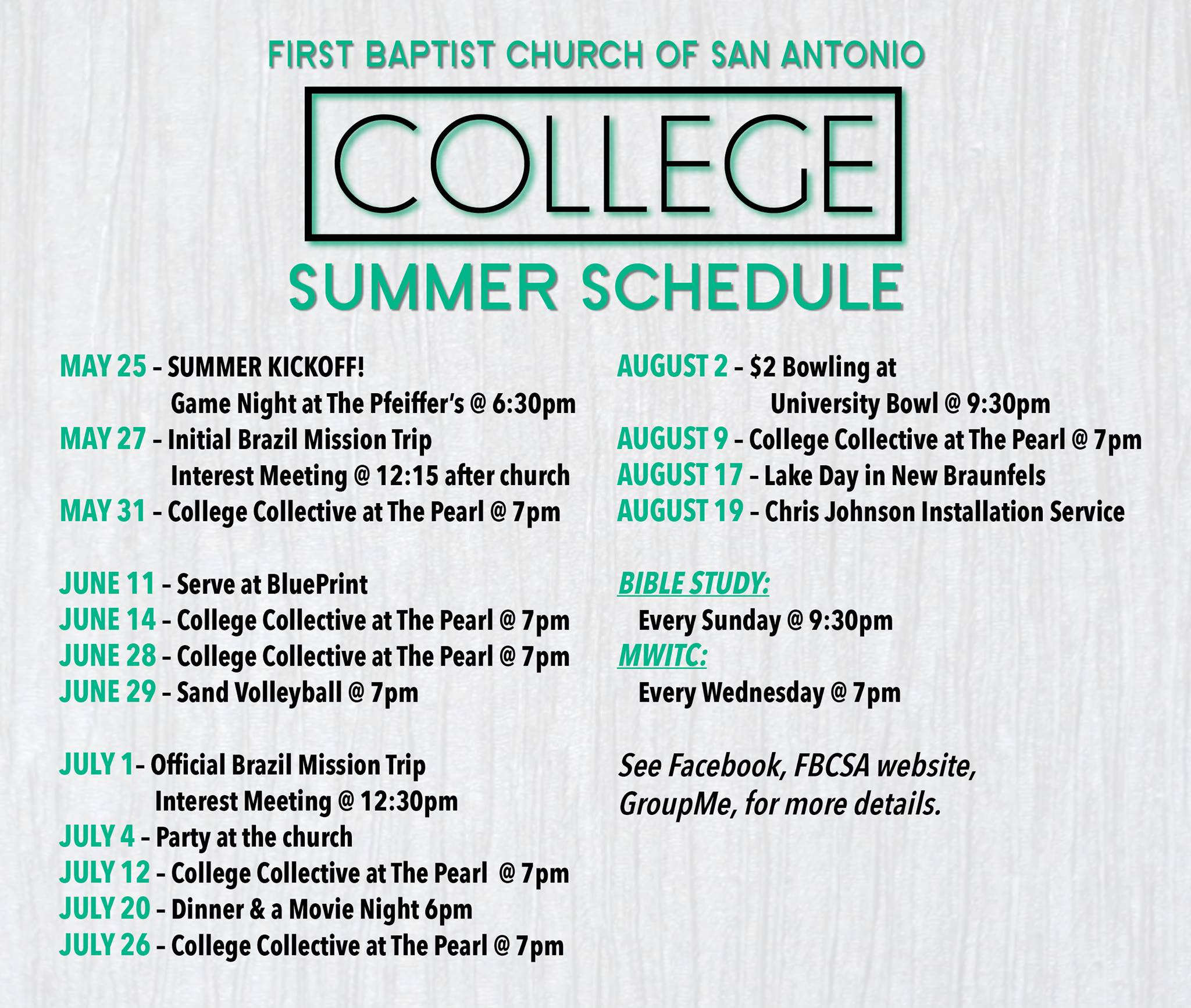 College ministry first baptist church san antonio the college ministry of fbcsa is building a family of friendship and faith so that together we can worship god follows jesus and represent gods kingdom malvernweather Images